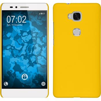 Hardcase for Huawei Honor 5X rubberized yellow