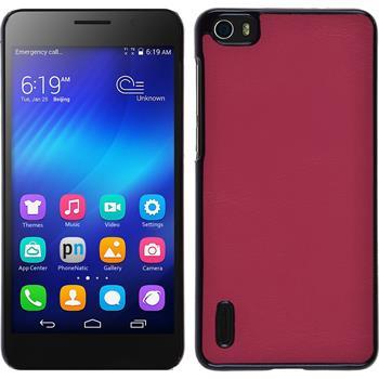 Hardcase for Huawei Honor 6 leather optics hot pink