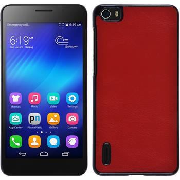 Hardcase for Huawei Honor 6 leather optics red