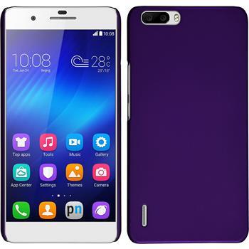 Hardcase for Huawei Honor 6 Plus rubberized purple