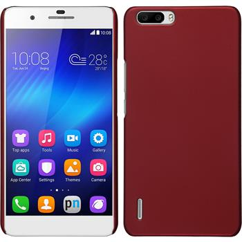 Hardcase for Huawei Honor 6 Plus rubberized red