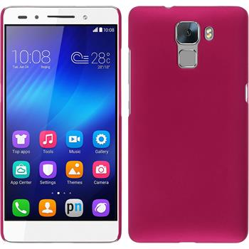 Hardcase for Huawei Honor 7 rubberized hot pink