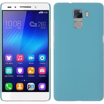 Hardcase for Huawei Honor 7 rubberized light blue