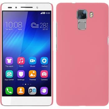 Hardcase for Huawei Honor 7 rubberized pink