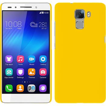 Hardcase for Huawei Honor 7 rubberized yellow