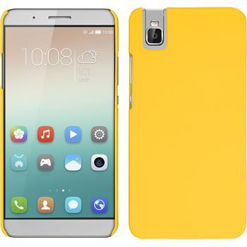 Hardcase for Huawei Honor 7i rubberized yellow