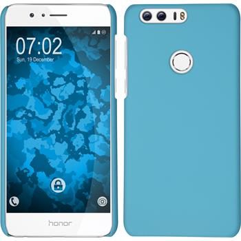 Hardcase for Huawei Honor 8 rubberized light blue