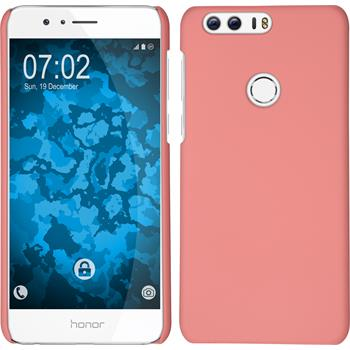 Hardcase for Huawei Honor 8 rubberized pink