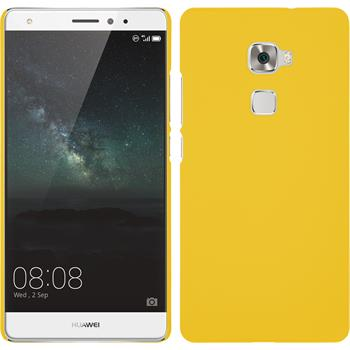Hardcase for Huawei Mate S rubberized yellow