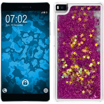 Hardcase for Huawei P8 Stardust hot pink