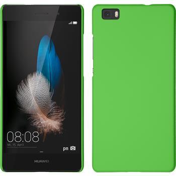 Hardcase for Huawei P8lite rubberized green