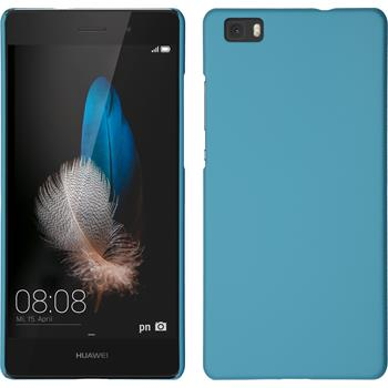 Hardcase for Huawei P8lite rubberized light blue