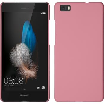 Hardcase for Huawei P8lite rubberized pink
