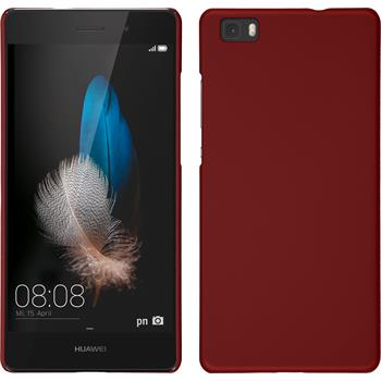 Hardcase for Huawei P8lite rubberized red