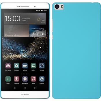 Hardcase for Huawei P8max rubberized light blue