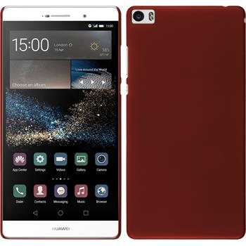 Hardcase for Huawei P8max rubberized red