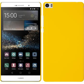 Hardcase for Huawei P8max rubberized yellow