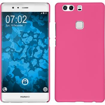 Hardcase for Huawei P9 Plus rubberized hot pink
