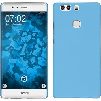 Hardcase for Huawei P9 Plus rubberized light blue