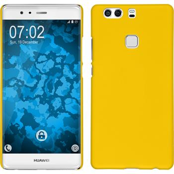 Hardcase for Huawei P9 Plus rubberized yellow