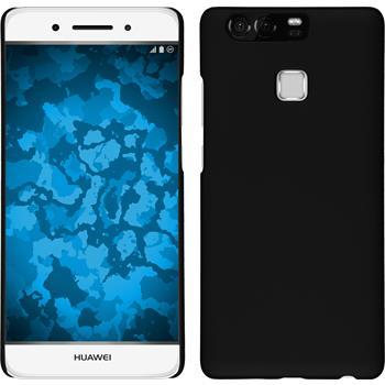 Hardcase for Huawei P9 rubberized black