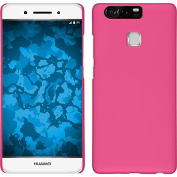 Hardcase for Huawei P9 rubberized hot pink