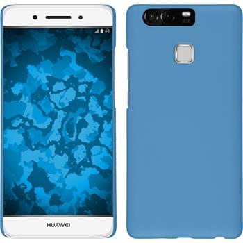 Hardcase for Huawei P9 rubberized light blue