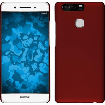 Hardcase for Huawei P9 rubberized red