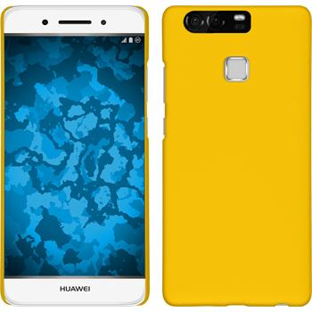 Hardcase for Huawei P9 rubberized yellow