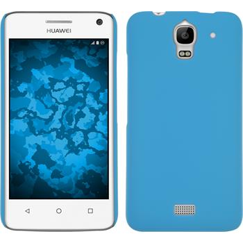 Hardcase for Huawei Y360 rubberized light blue