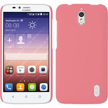 Hardcase for Huawei Y625 rubberized pink