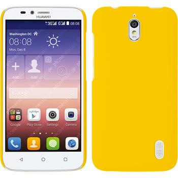 Hardcase for Huawei Y625 rubberized yellow