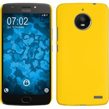 Hardcase Moto E4 (EU Version) rubberized yellow + protective foils