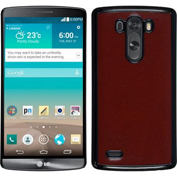 Hardcase for LG G3 leather optics brown