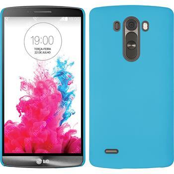 Hardcase for LG G3 rubberized light blue