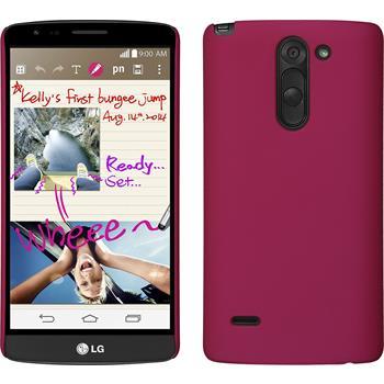 Hardcase for LG G3 Stylus rubberized hot pink