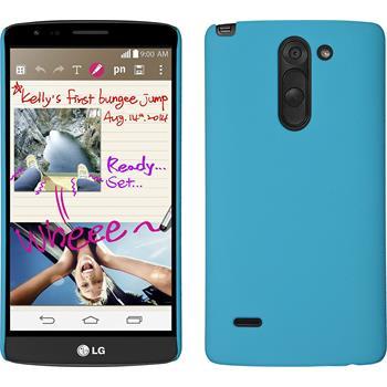 Hardcase for LG G3 Stylus rubberized light blue
