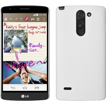 Hardcase for LG G3 Stylus rubberized white