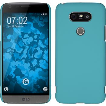 Hardcase for LG G5 rubberized light blue