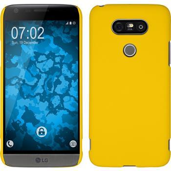 Hardcase for LG G5 rubberized yellow