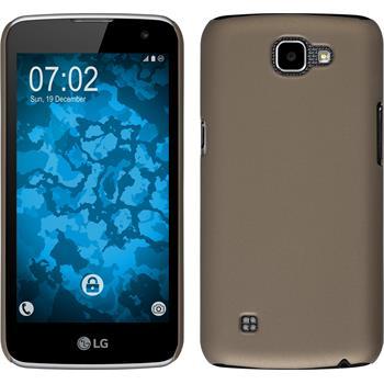 Hardcase for LG K4 rubberized gold