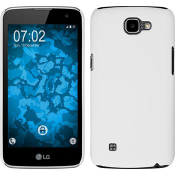 Hardcase for LG K4 rubberized white