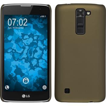 Hardcase for LG K7 rubberized gold