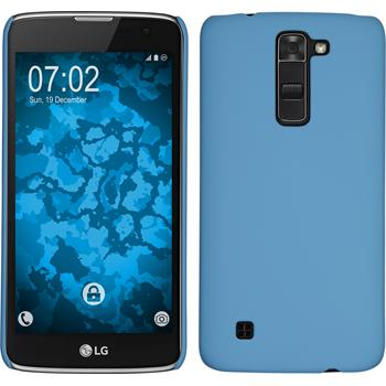 Hardcase for LG K7 rubberized light blue