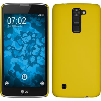 Hardcase for LG K7 rubberized yellow