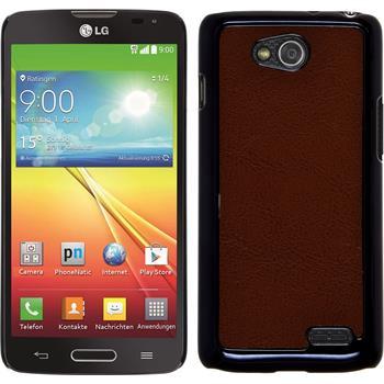 Hardcase for LG L90 leather optics brown