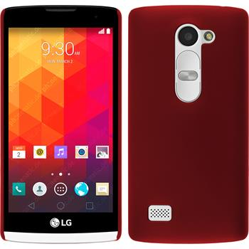 Hardcase for LG Leon rubberized red