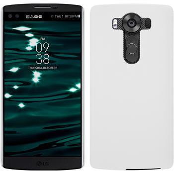 Hardcase for LG V10 rubberized white
