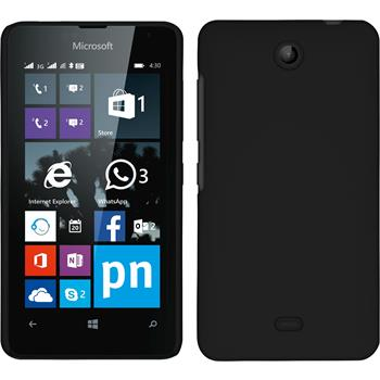Hardcase for Microsoft Lumia 430 Dual rubberized black