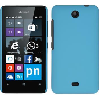 Hardcase for Microsoft Lumia 430 Dual rubberized light blue